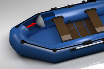 Inflatable boat with special tube construction