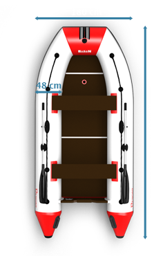 B-360 Inflatable boat Dimensions