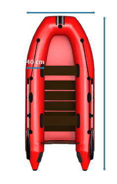 L-320 Inflatable Boat Dimensions