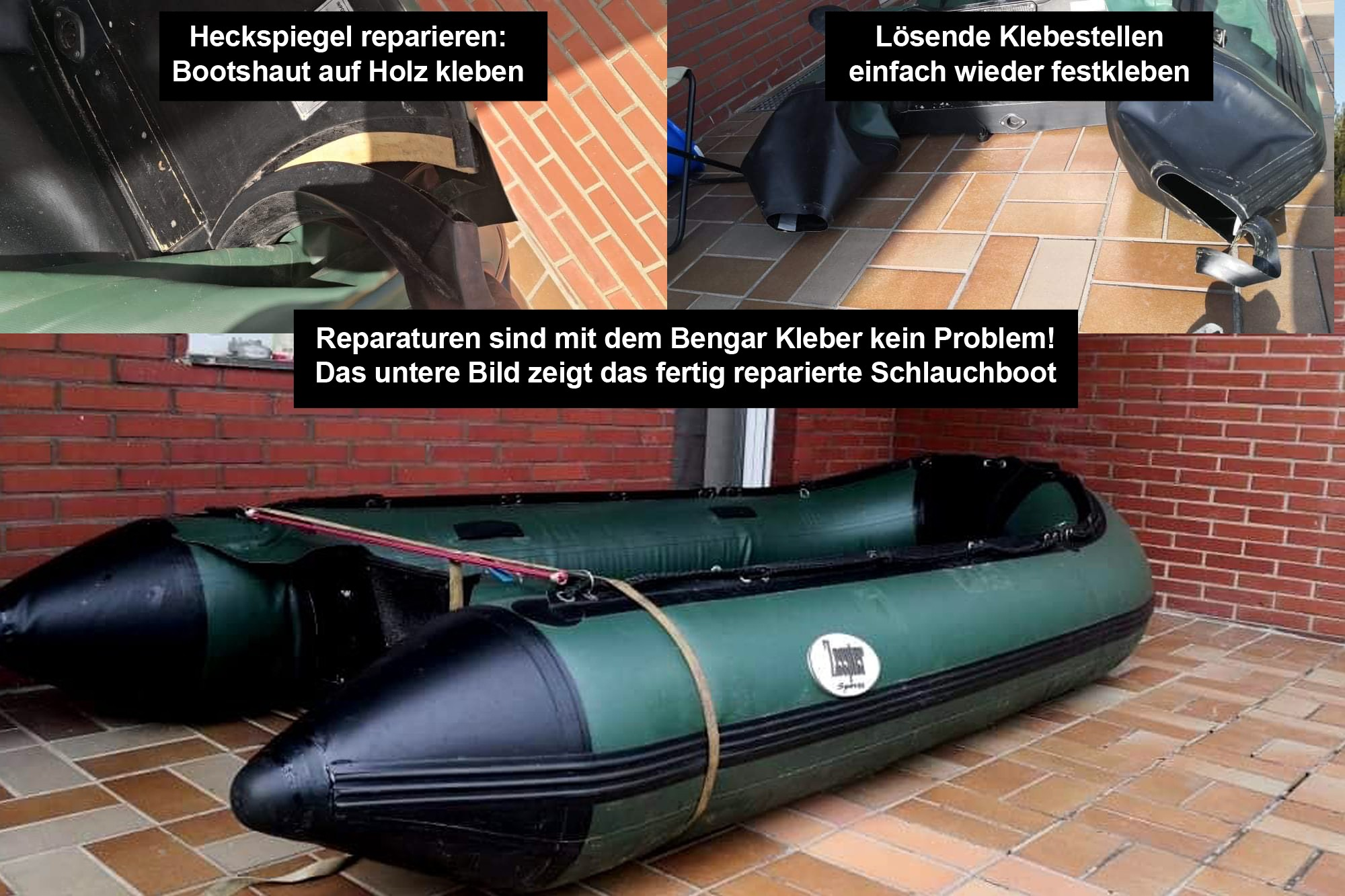 Boot Repair Kleber Ferse Supertop Rubber Boat Repair Kleber Schlauchboot Reparatur Patch Kleber Kit Schwimmbad PVC Puncture Adhesive Canoe