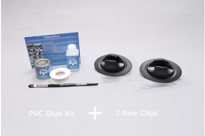 2 C-Clamps for Inflatable boat + PVC Glue