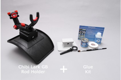 Top rod holder for inlatable boats with PVC glue