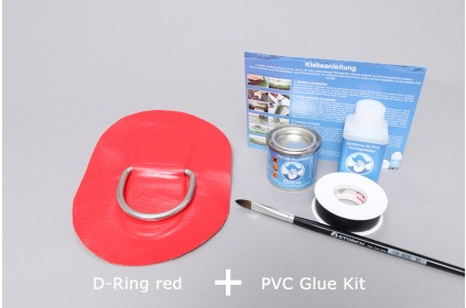 D-Ring for PVC inflatable boat and specific installation set