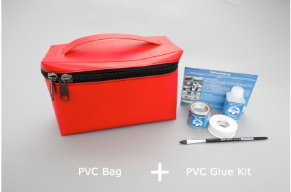 removable red bag for pvc inflatable boats. PVC boats assembly kit included