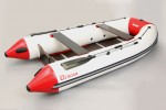 B-360 cm Bengar Baron inflatable boat / fish boat with plywood floor (white/red)