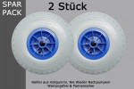 Set: 2x Puncture-Proof PU Wheel (Ø 260mm), Slip Wheel, Tyre, Solid Rubber, Sack Truck 3. 00-4
